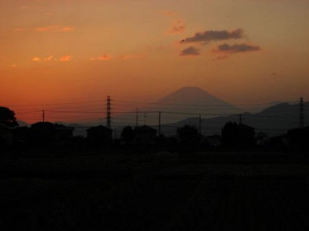 夕焼け w/富士山