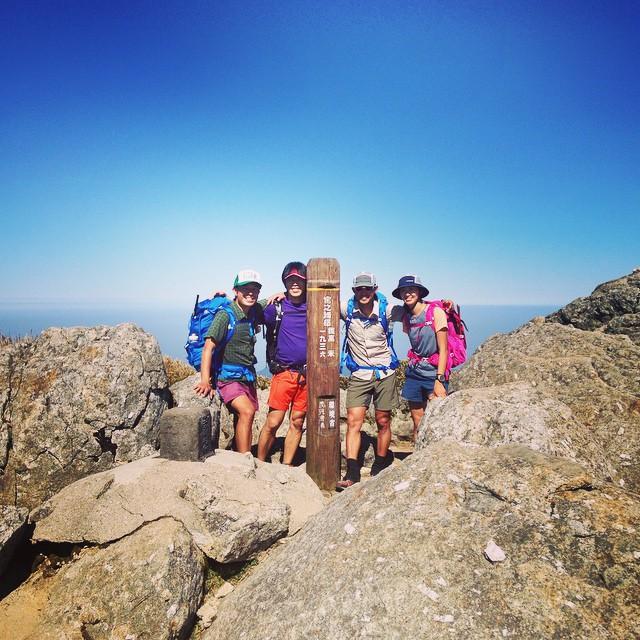 屋久島最高峰到達!そして永田岳へ。海からの行動時間11時間が経過。景色素晴らしいけど体的にはいっぱいいっぱい