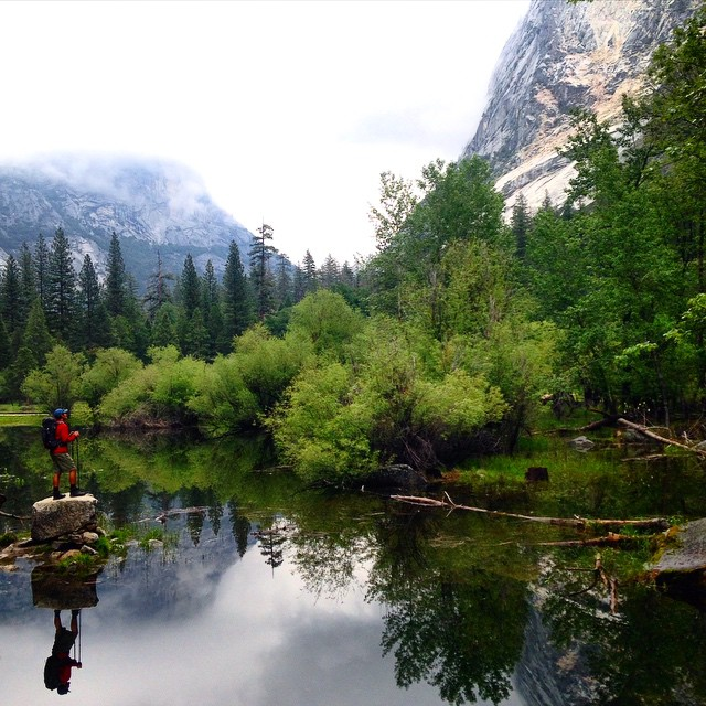 Mirror in the #mirrorlake #yosemite